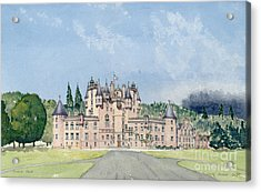 Glamis Castle Tayside  Acrylic Print by David Herbert