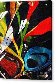 Glass Abstract 297 Acrylic Print by Sarah Loft