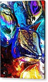 Glass Abstract 687 Acrylic Print by Sarah Loft