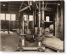 Glass-blowing Machine, 1908 Acrylic Print by Science Photo Library