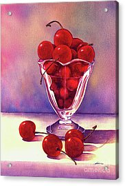 Glass Full Of Cherries Acrylic Print by Nan Wright