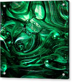 Glass Macro Abstract Egw2 Acrylic Print by David Patterson