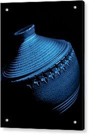 Glazed-blue Acrylic Print by Tom Druin