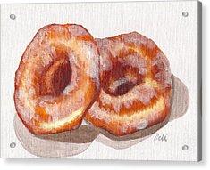 Glazed Donuts Acrylic Print by Debi Starr
