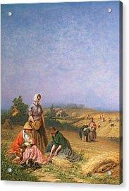Gleaning Acrylic Print by George Elgar Hicks