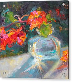 Gleaning Light Nasturtium Still Life Acrylic Print by Talya Johnson
