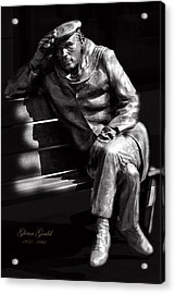 Glenn Gould Acrylic Print by Andrew Fare