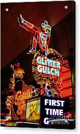 Glitter Gulch Acrylic Print by John Malone