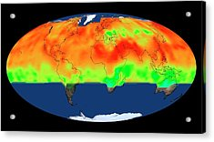 Global Co2 Concentrations Acrylic Print by Nasa's Scientific Visualization Studio