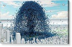 Global Co2 Emission Rate Acrylic Print by Adam Nieman