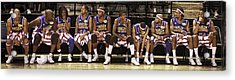 Globetrotters Bench Acrylic Print by Alan  Reid