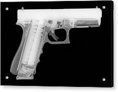 Glock G17 Reverse Acrylic Print by Ray Gunz