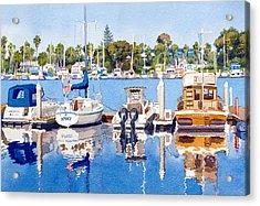 Glorietta Bay Marina Acrylic Print by Mary Helmreich