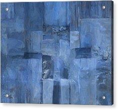 Glowing Blues Acrylic Print by Lee Ann Asch