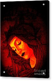 Glowing Botticelli Madonna Acrylic Print by Genevieve Esson