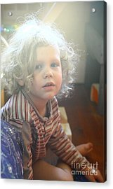 Acrylic Print featuring the photograph Glowing Child  by Carl Warren