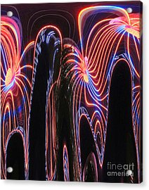 Glowing Curves Acrylic Print by Marian Bell