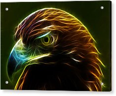 Glowing Gold Acrylic Print by Shane Bechler