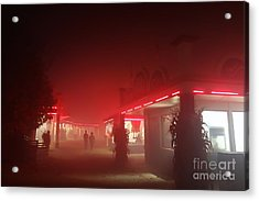 Glowing Red Acrylic Print by Jacqueline Athmann