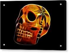 Glowing Skull Acrylic Print by Shane Bechler