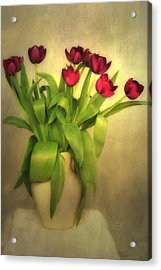 Glowing Tulips Acrylic Print by Annie Snel