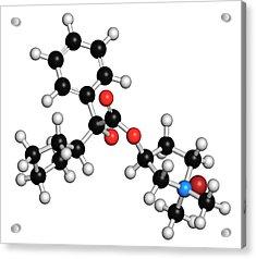 Glycopyrronium Bromide Copd Drug Molecule Acrylic Print by Molekuul