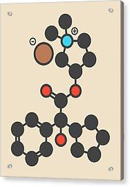 Glycopyrronium Bromide Drug Molecule Acrylic Print by Molekuul