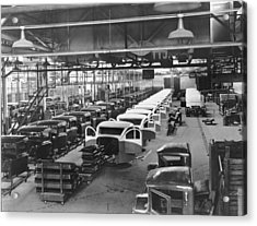 Gmc Truck Factory Acrylic Print by Underwood Archives