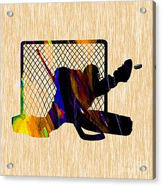 Goalie Acrylic Print by Marvin Blaine