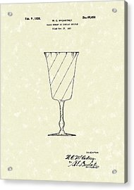 Goblet 1926 Patent Art Acrylic Print by Prior Art Design