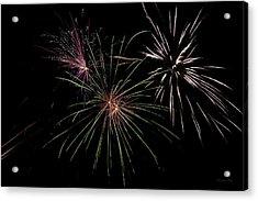 God Bless America Fireworks Acrylic Print by Christina Rollo