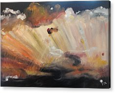 God Is Truly Mighty Acrylic Print by PainterArtist FIN