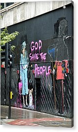 God Save The People Acrylic Print by RicardMN Photography