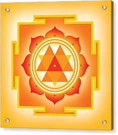 Goddess Durga Yantra Acrylic Print by Soulscapes - Healing Art