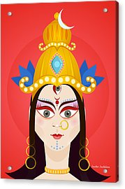 Goddess Maa Durga Acrylic Print by Sachin Sachdeva