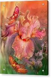 Goddess Of Spring Acrylic Print by Carol Cavalaris