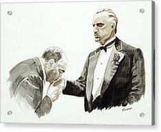 Godfather Acrylic Print by Timothy Ramos