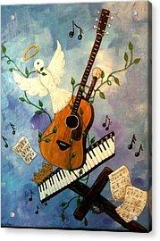 God's Music Acrylic Print by Suzanne Brabham