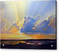 God's Paint Brush Acrylic Print by Lamarr Kramer