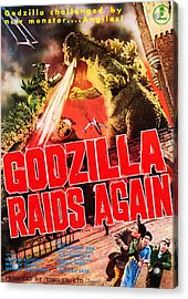 Godzilla Raids Again, Aka Gojira No Acrylic Print by Everett