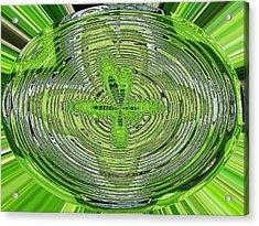 Going Green Acrylic Print by Ella Char