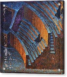 Gold Auditorium Acrylic Print by Mark Howard Jones