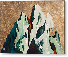 Gold Mountain Acrylic Print by Joseph Demaree