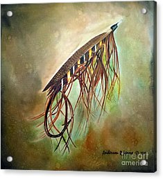 Gold Speal Spey Acrylic Print by Anderson R Moore