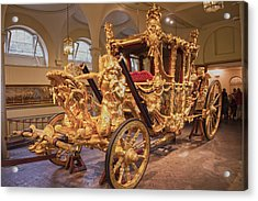 Gold State Coach Queen Elizabeth II Acrylic Print by David French