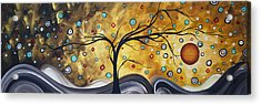 Golden Admiration By Madart Acrylic Print by Megan Duncanson