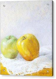 Golden Apple Acrylic Print by Nancy Stutes