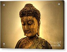 Golden Buddha Acrylic Print by T Lang