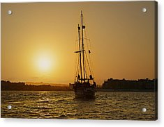 Golden Cabo Sunset Acrylic Print by Christine Till