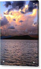 Golden Clouds Acrylic Print by    Michael Glenn